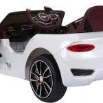 Bentley EXP Elektrische kinderauto wit met open deuren 550x415
