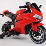Diablo rood Elektrische kinder motor zijkant 550x615
