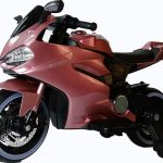 Diablo roze elektrische kinder motor voorkant dichtbij 550x639