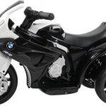 Elektrische kinder motor BMW S1000RR zwart wit zijkant 550x509