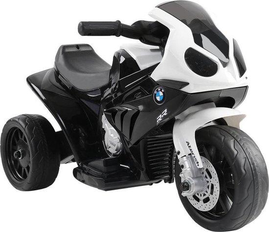 Elektrische kinder motor BMW S1000RR zwart wit zijkant rechts 550x509
