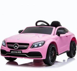 Mercedes benz C63 AMG Roze Elektrische kinderauto 550x507