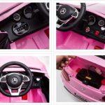 Mercedes benz C63 AMG Roze Elektrische kinderauto meer sfeerbeelden 550x507
