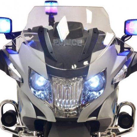 Politie elektrische kinder motor BMW grijs 550x463