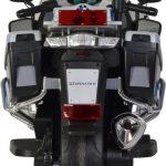 Politie elektrische kinder motor BMW grijs achterkant 550x463