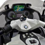 Politie elektrische kinder motor BMW grijs binnenkant 550x463