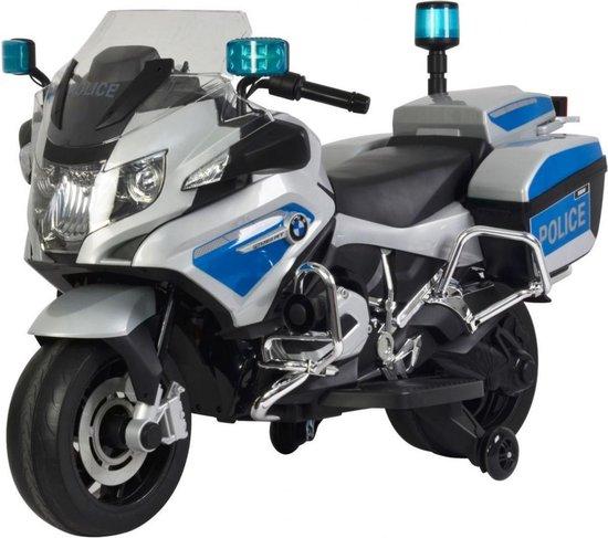 Politie elektrische kinder motor BMW grijs zijkant 550x463